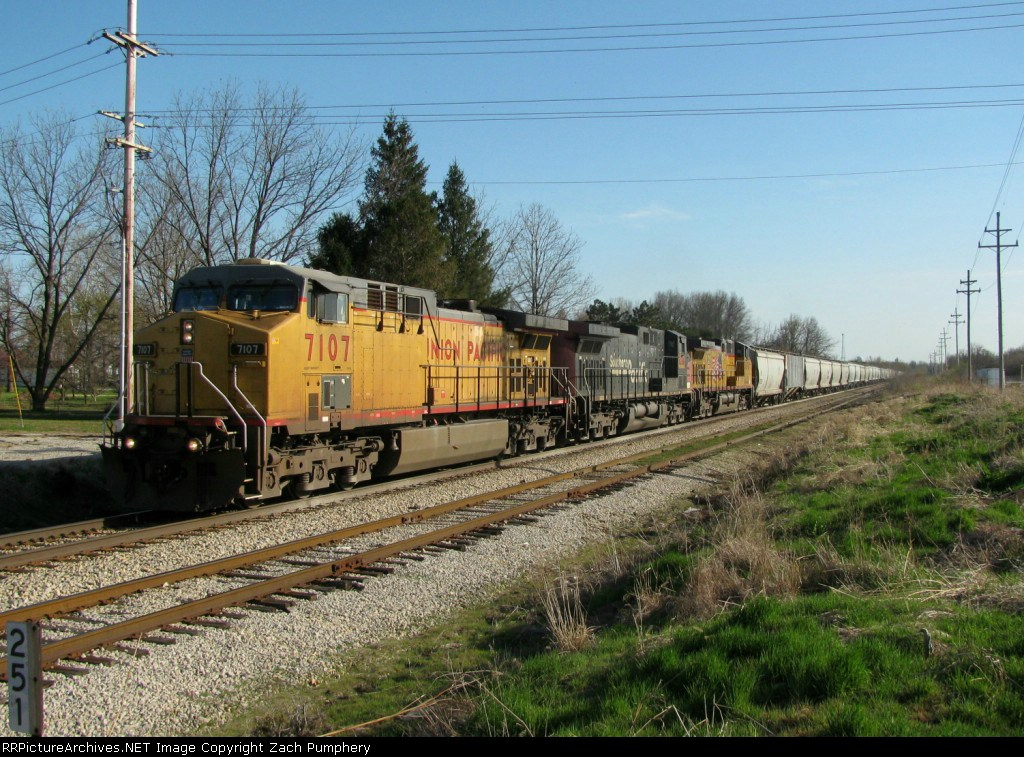 Northbound UP Empty Grain Train