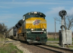 Southbound UP Manifest With the CNW and MP Heritage Locomotives