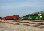 Tied Down MNA and BNSF Locomotives