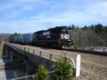 NS 3535 leads a short P90 across I-40 on the Hendersonville Line