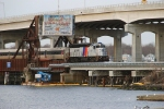 NJT 4211 crossing Shark drawbridge