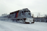 NJT 4202 in the snow