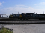 Q218 power passing the yard assigned SD40-2's