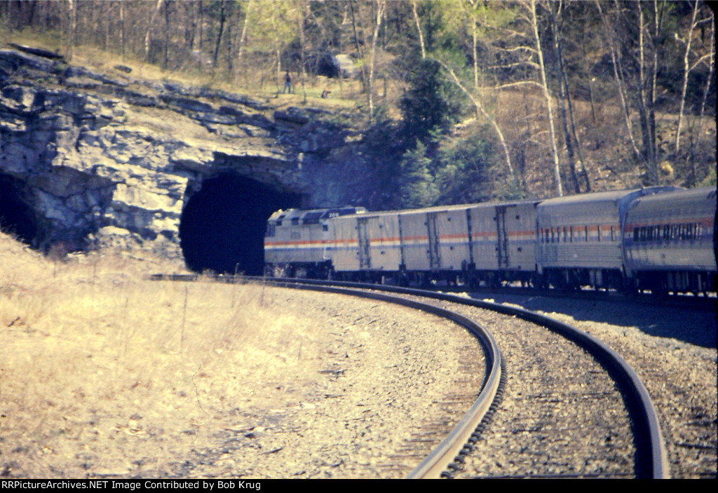 Lakeshore Limited heading into the W Portal of State Line Tunnel