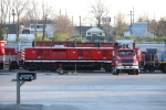 Progress Rail 2005 sitting in the Corman Lexington Yard awaiting initial testing. Really wish the Sterling truck was parked elsewhere.