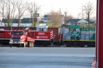 Progress Rail 2005 sitting in the Corman Lexington Yard awaiting initial testing. Really wish the Sterling truck was parked elsewhere. RailPower 5407 sits nose to nose with her. Corman has already been testing this unit for months now, but they have recen