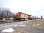 Northbound BNSF grain train