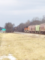 BNSF units going north