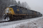 "CSX 439 and a ""Dark Future"" AC4400 take charge of the snow"
