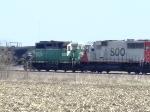 SOO 6032 and BNSF 1504