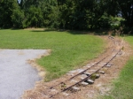 Old miniature train rail line