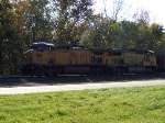 Hogged out northbound coal train