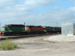 BNSF 6321 heads a mixed freight toward the yard.