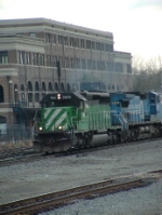 FURX 7940 pulling hard with Conrail (NS) 8373