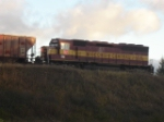 WC engine # 7506 WORKING THE YARD ON A COLD SEPTEMBER MOURNING