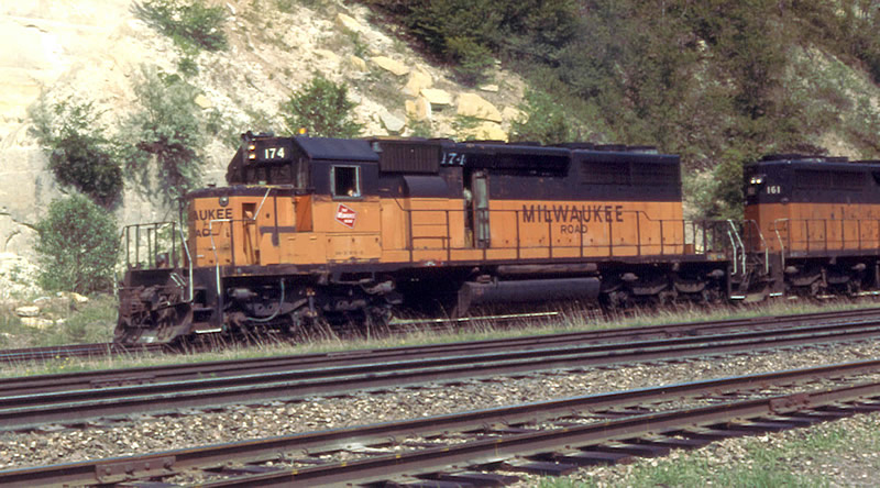MILW 174 leads this freight