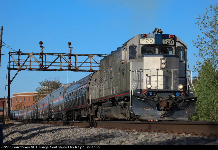 Amtrak 520 leads special movement out of town for Albany