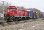 Two of CP's GP-9's drill cars at the east end of Conklin yard on a typical overcast Broome county day