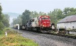 Coming out of the valley and into dryer surroundings, 39T passes thru as it approaches Hornell