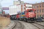 CP train 450 from Saratoga  arrives at Kenwood Yard