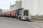 Albany Port Railroad # 13 shoves a cut of grain cars into the Cargill siding in the port of Albany