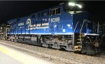 Conrail Heritage unit ES44AC # 8098 pauses on train H8K before heading east to Croxton yard in Jersey City, NJ