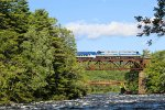 Saratoga & North Creek's Hudson Explorer crosses the Great Sacandaga River