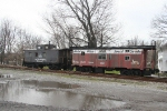 A couple of cosmetically restored cabooses(cabeese?) sit along side the Buffalo Southern main