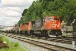 Eastbound manifest using BNSF rights passes Hoffman