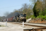 NS 9057, 9702 lead a Mixed Freight southbound at MP 162 Ferguson/Woods 2:43pm ET 4/12/09