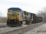 7689 & 7786 put their muscle to the rail to keep K357-09 rolling
