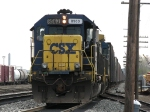CSX 8563 sits on the Service Track waiting to go west with K357-29