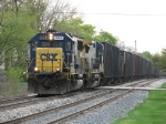 K357-29 rolls down Track 1 as it continues its' westward trip