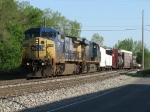 CSX 7871 & 5334 roll west under the evening sun with Q327-20