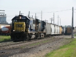 CSX 8563 & 5385 accelerate westward with R351-28