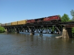 CP 9782 & 9530 lead X500-30 across the Thornapple River