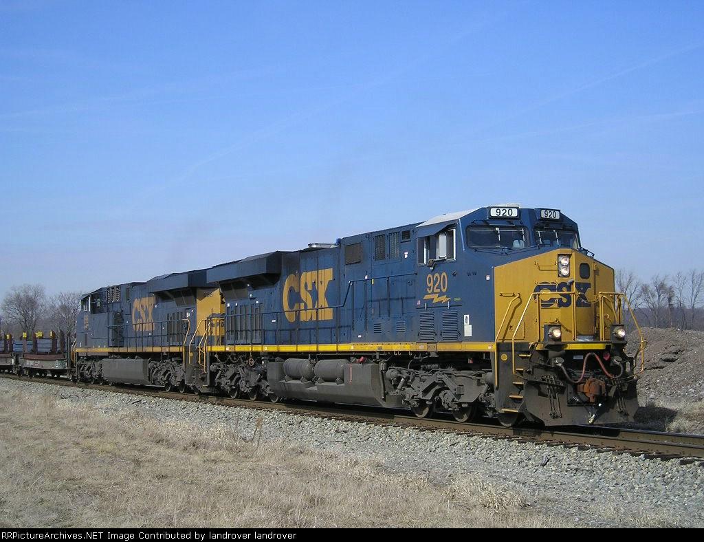 CSXT 920 On CSX K 587 Eastbound