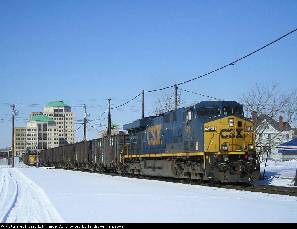 CSXT 5491 On CSX J 783 Eastbound