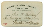 1887 Boston & Albany annual pass