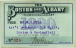 1900 Boston & Albany Annual pass