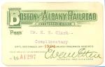1904 Boston & Albany annual pass