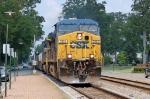 Empty Tropicana train rolls through
