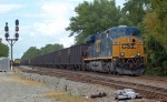 CSX 837 pushes hard on the rear