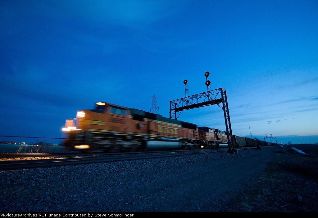 BNSF eastbound coal train