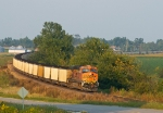 BNSF 5810 DPU on eastbound coal load