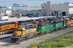 BNSF A-B-A SD40-2 hump set