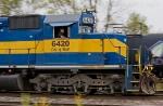 IC&E 6420 rolls westward through the yard