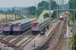Five Metra trains