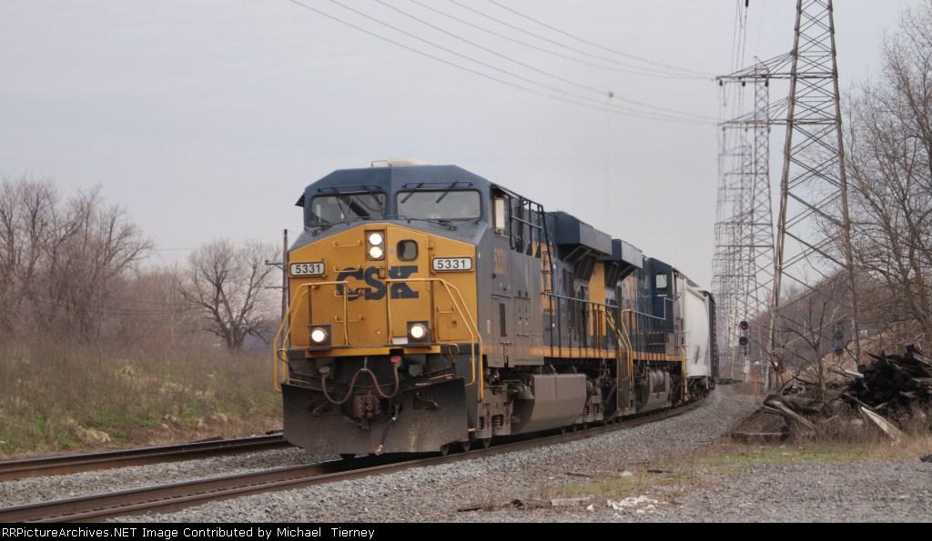 CSX ES44DC 5331 at boundbrook