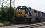 CSX SD60 8711 & AC44CW 207 at boundbrook on a short garbage train